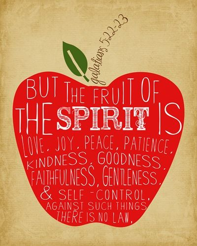 Fruit of the Spirit scripture print - perfect for the kitchen!