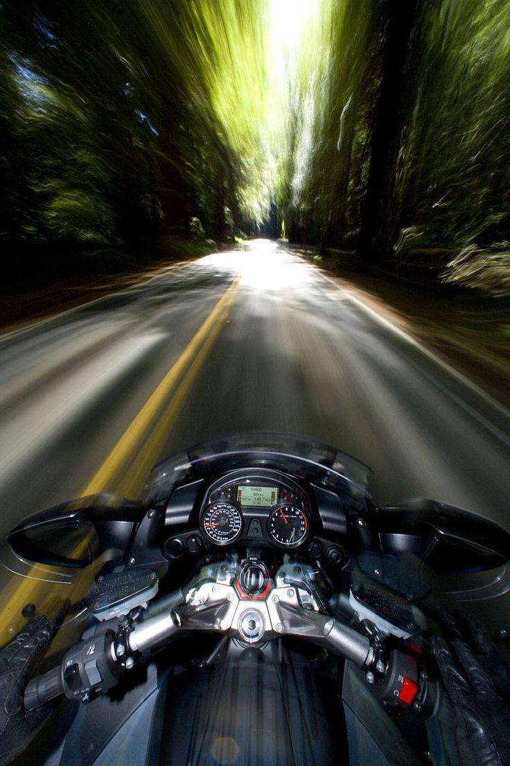 Motorcycling.