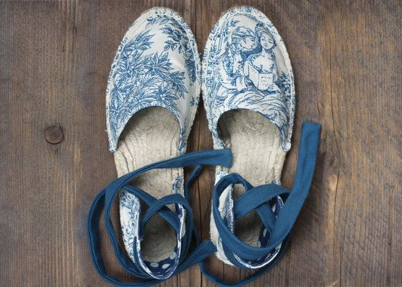 Espadrilles flat summer sandals women's shoes by TrinityAndTheCat