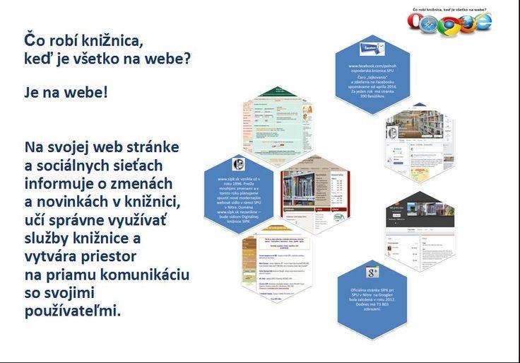 Web stránka a sociálne siete Slovenskej poľnohospodárskej knižnice