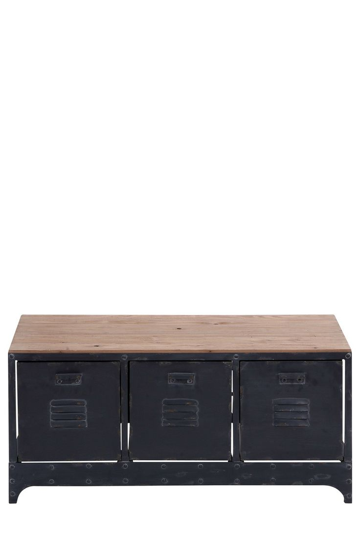 Wood Metal Storage Table on HauteLook | Home Life ...