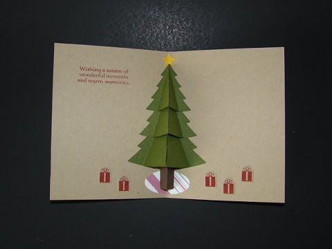 Peaceful Pines Pop Up Card - YouTube