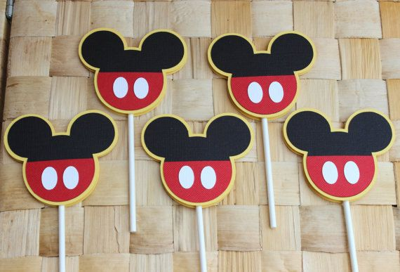 Mickey Mouse Cupcake Toppers Mickey Mouse by LisasPartyShoppe, $10.00