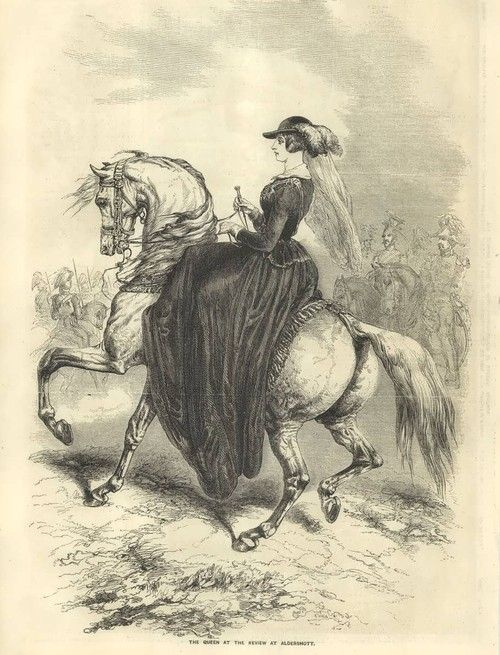 Another birthday girl!!!  Queen Victoria of Great Britain (May 24, 1819-January 22, 1901)  Illustration from mid 1850s.