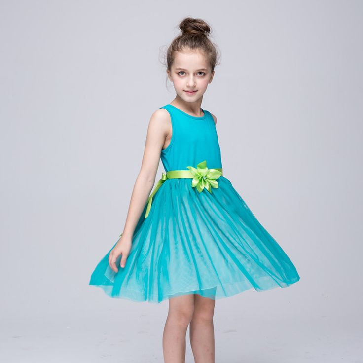 Teenage Girls Dresses Summer 2016 Flower Girls Dresses For Party And Wedding Princess Dress Vetement Fille Age 8 9 10 Years old