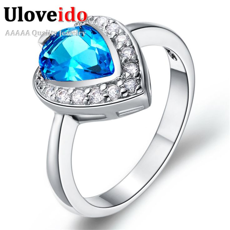 Find More Rings Information about Wedding Rings for Women Jewelry Heart Love 925 Silver Red/Blue/Purple Crystal Simulated Diamond Ring Jewellery Ulove J350,High Quality ring shape,China ring smile Suppliers, Cheap ring furniture from ULOVE Fashion Jewelry on Aliexpress.com