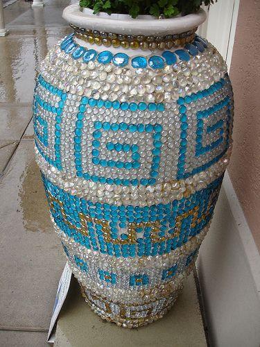 mosaic planter, love the idea!