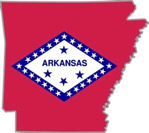 Arkansas--the state flag has the diamond shape on it because Arkansas is the only place in North America with a diamond mine