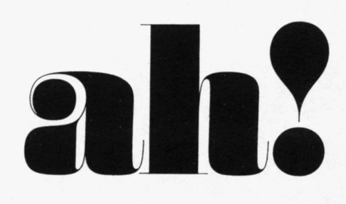 ah! by Herb Lubalin