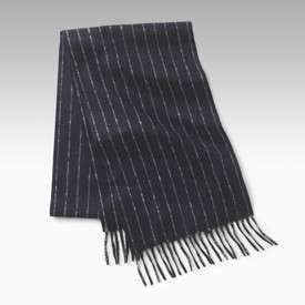 Colombo Chalk Stripe Cashmere Scarf