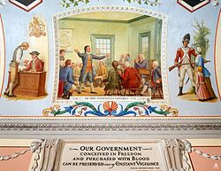 the 1st continental congress - http://en.wikipedia.org/wiki/First_Continental_Congress