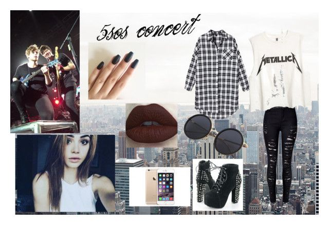 5sos concert🤘🏻💋 by sabrina-carreiro on Polyvore featuring polyvore, fashion, style, WithChic and clothing