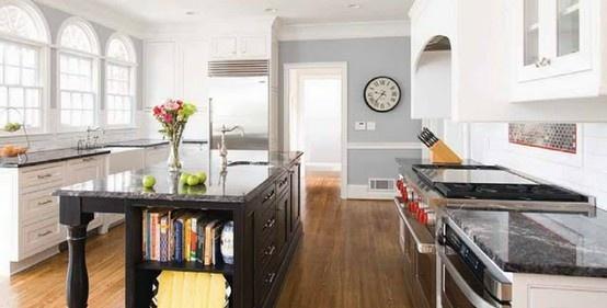 Gray & Black Kitchen #kitchen
