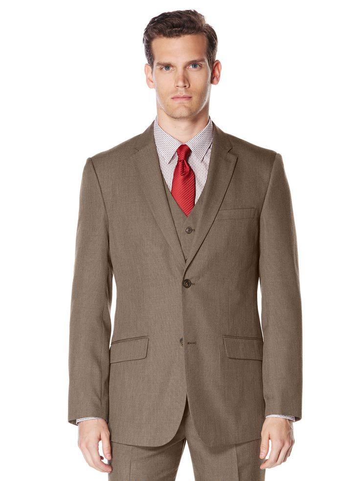Perry Ellis Big and Tall Subtle Pattern Twill Suit Jacket #MensShirts #MensShoes #MensUnderwear
