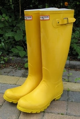 colorful wellies, as well as boots in general always come out great in photos, especially when paired with skinny jeans or a pretty dress