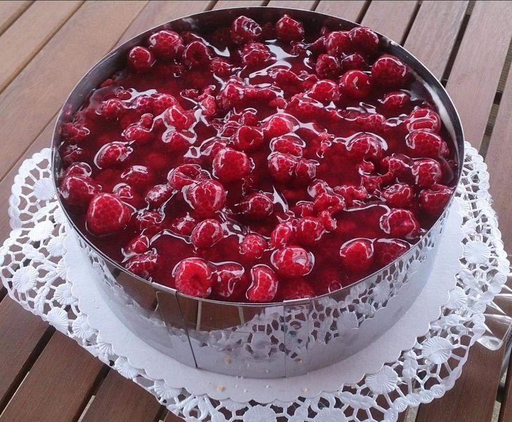 Rezept Himbeer Mascarpone Torte von kuschy - Rezept der Kategorie Backen süß