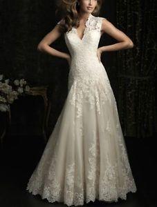 Spalline del vestito vestito da sposa in pizzo bianco avorio damigella d'onore