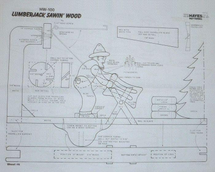 Lumberjack Sawin' Wood
