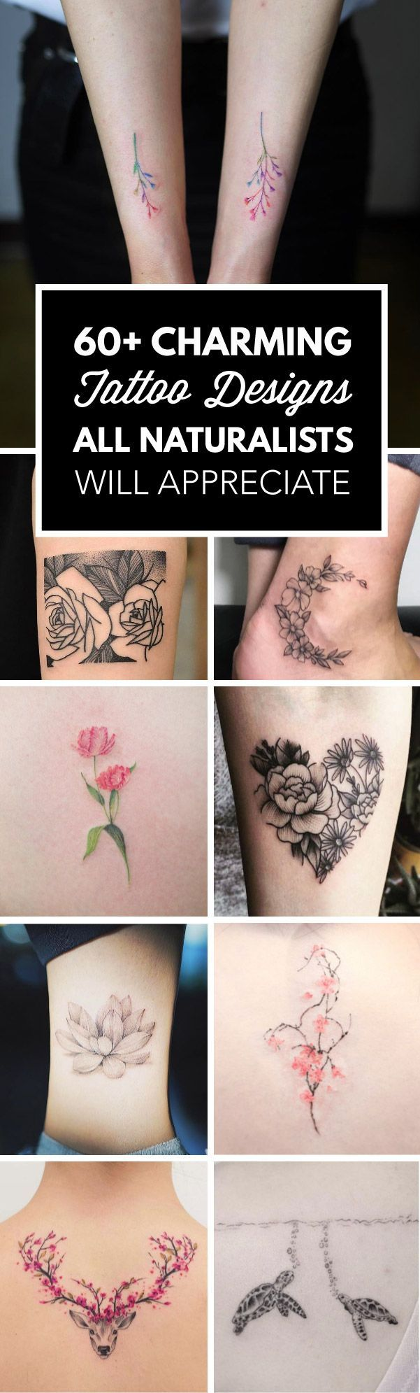 60+ Charming Tattoos All Naturalists Will Appreciate