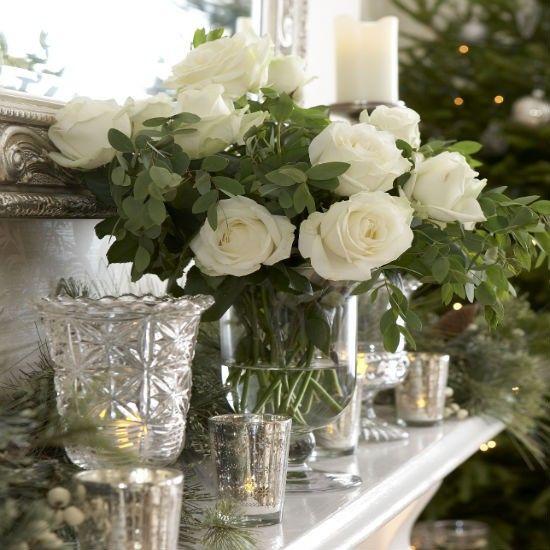 Keep it natural - Christmas mantel
