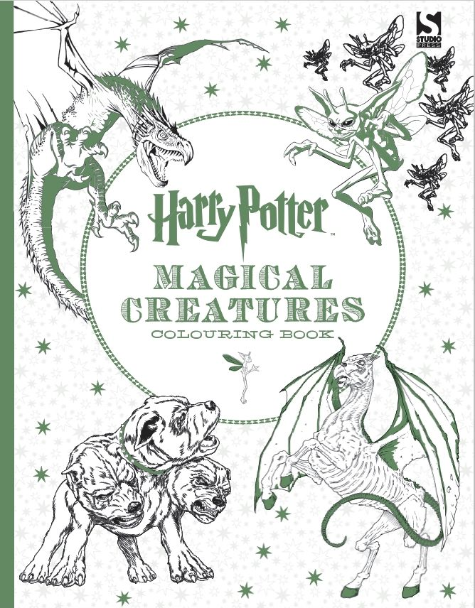 The Newest Harry Potter Colouring Book Featuring MAGICAL CREATURES HPColouring