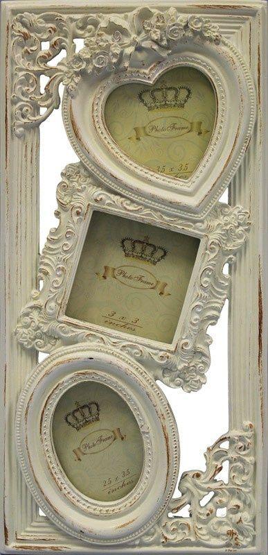 "Bilderrahmen ""Romantic love""  Material:Holz Farbe:Weiß  Größe:35 x 16.5 x 1 cm"