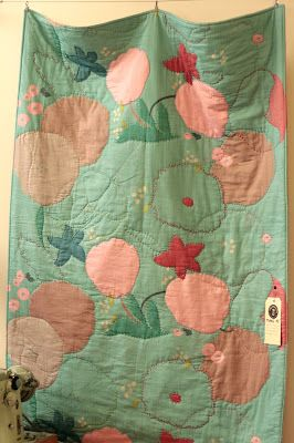 The Drapery: Whole cloth quilting with Nani Iro double gauze. Need to do this!