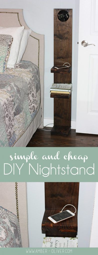 Check out how to make an easy DIY Rustic Nightstand for bedroom decor @istandarddesign