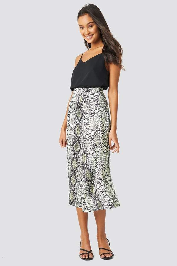 be9ec6f142 Snake Patterned Skirt in 2019 | Products | Fashion, Snake patterns ...