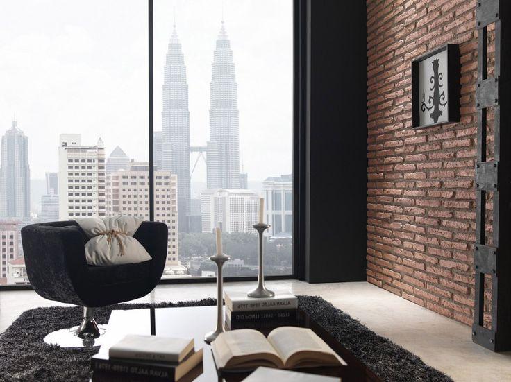 Imitacion piedra para paredes interiores cool amazing - Plaquetas decorativas para paredes ...