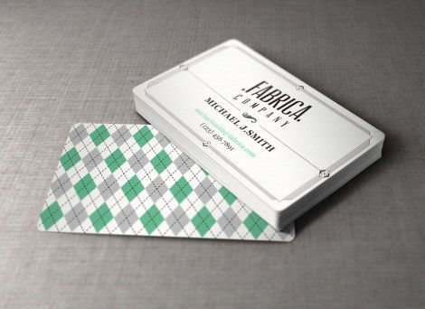 Free Retro Business Card Template from Pixeden
