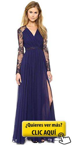 Aimerfeel vestido de encaje de color azul oscuro... #vestido
