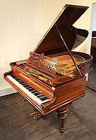 Antique, Bechstein Model B Grand Piano For Sale with a Rosewood Case and Tapered, Barley Sugar Legs