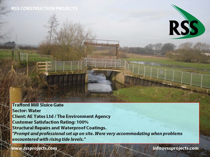 Structural Repairs and Waterproof Coatings. http://www.rssprojects.com/Case Studies/trafford-mill-sluice-gate