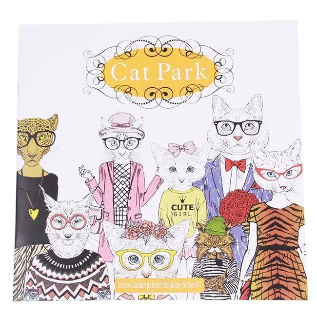 Hot Fashion Secret Garden Of Cat Park Painted Coloring Book English Version Z