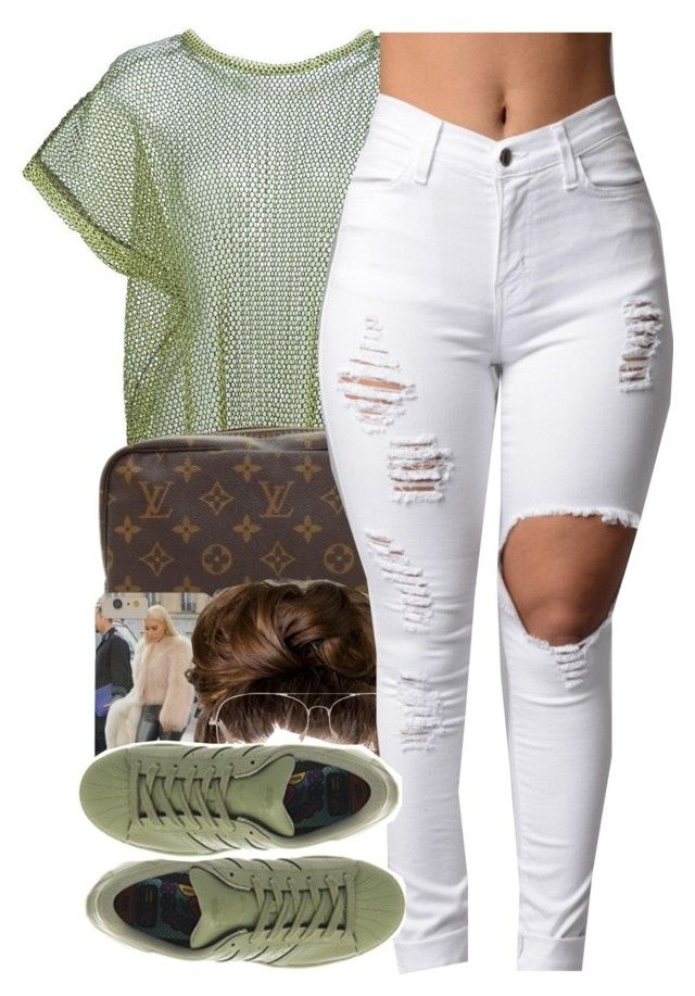 """power"" by lovebrii-xo ❤ liked on Polyvore featuring Pleats Please by Issey Miyake, Louis Vuitton, Michael Kors and adidas"