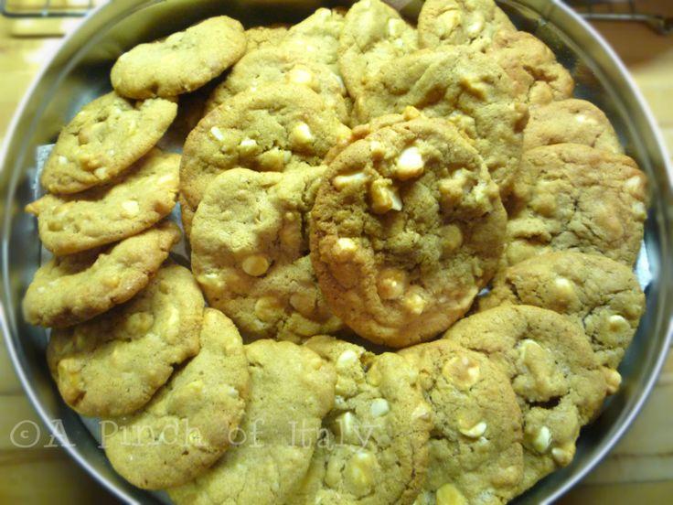 Cookies+al+Cioccolato+Bianco+e+Noci+Macadamia