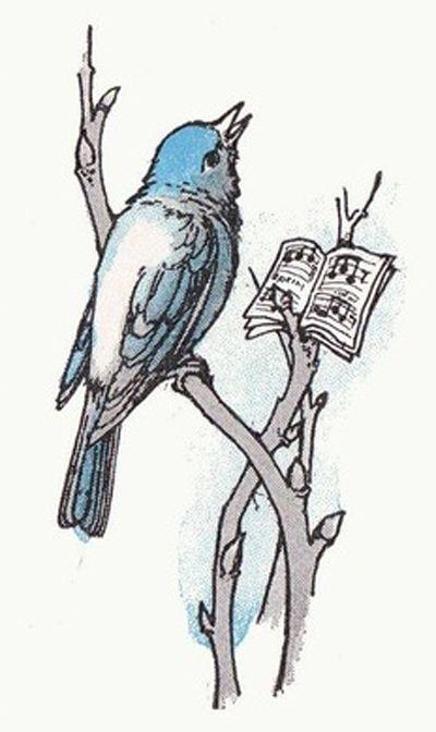 MEW Bluebird...Birds by Margaret Ely Webb