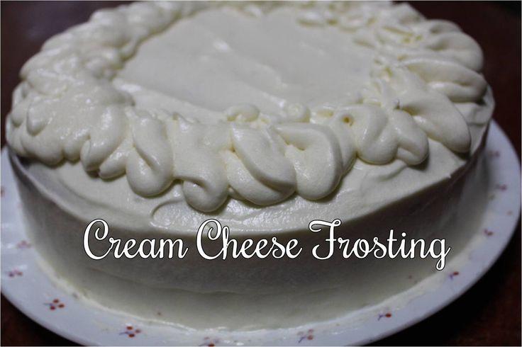 Cream Cheese Frosting  Recipe: http://youtu.be/GKYfXDBcw8g?list=PLKzua_x2TbRxiJqx22pkuie3SjLZrlGbY