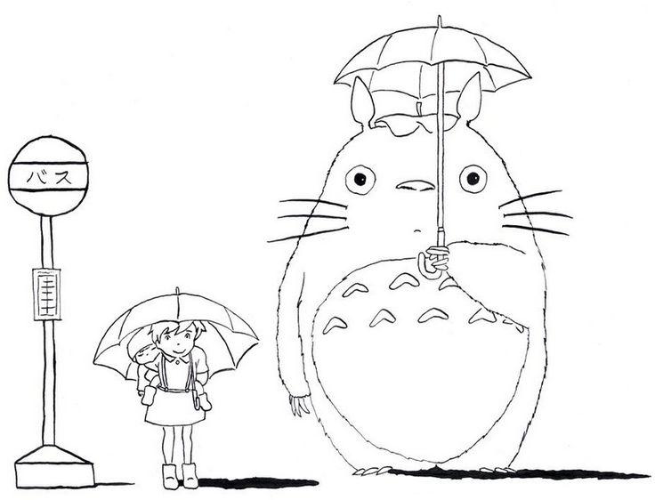 My Neighbor Totoro tonari no totoro coloring picture ...