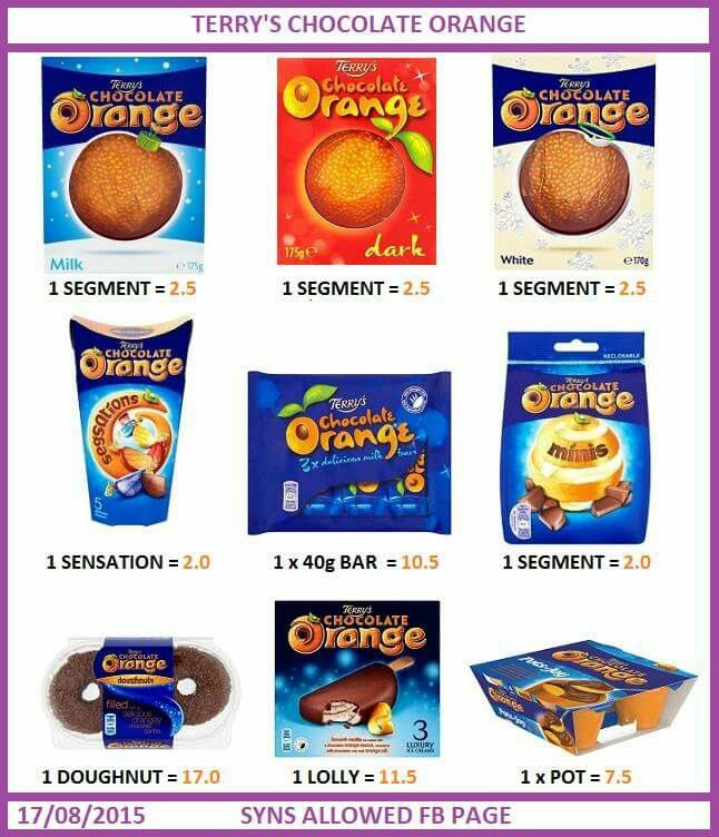 17 Best Images About Slimming World Syns On Pinterest Slimming World Syns Chocolate Orange