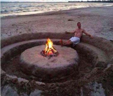 """This epic way to relax at a beach party. 