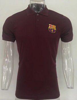 Barcelona 2017-18 Season Brown Polo Shirt [L309]