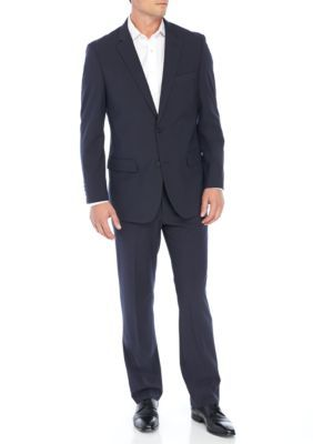 Nautica Men's Navy Mini Screen Weave Stretch Suit - Navy - 48 Regular
