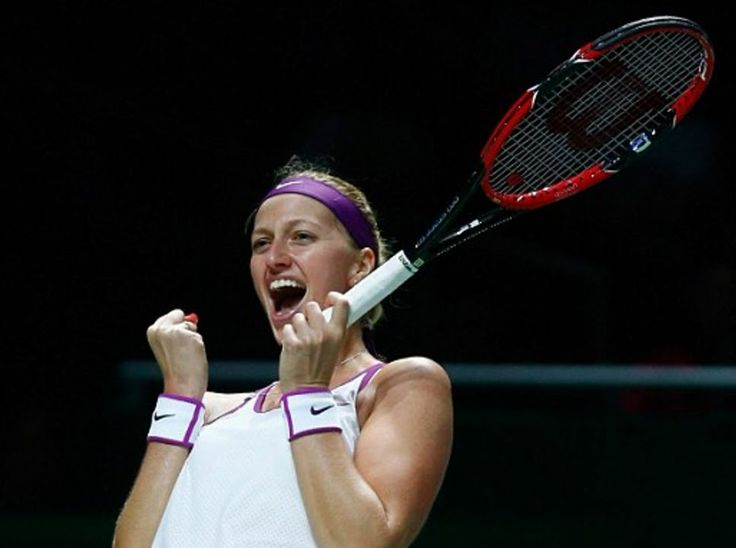 Petra Kvitova knocks out Maria Sharapova in straight sets to Finals against Agnieszka Radwanska Two-time Wimbledon champion Petra Kvitova will bid for a second WTA Finals crown on Sunday after defeating Maria Sharapova in Singapore. The 2011 winner will face Agnieszka Radwanska.