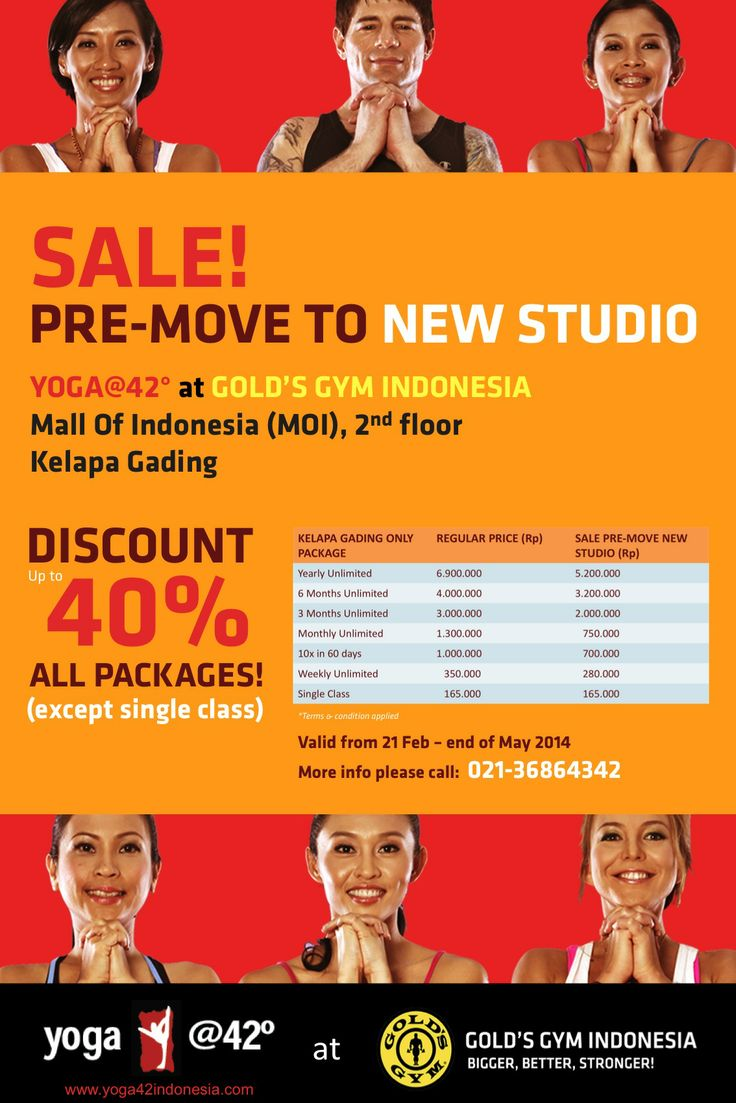 Yoga@42 Kelapa Gading MOI studio, before moving to bigger space sale…...