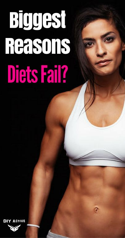 What Are the Biggest Reasons Diets Fail? via @DIYActiveHQ #diet #WeightLoss #deiting