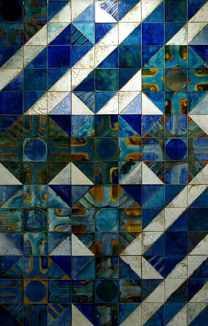Tile panel by Portuguese artist Querubim Lapa | Museu do Azulejos, Lisbon