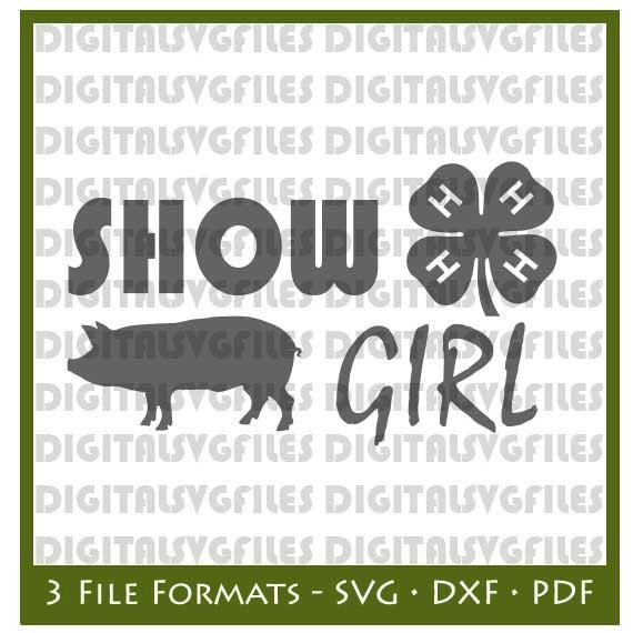 Show Girl Livestock Pig SVG File Show Pig SVG File Farm