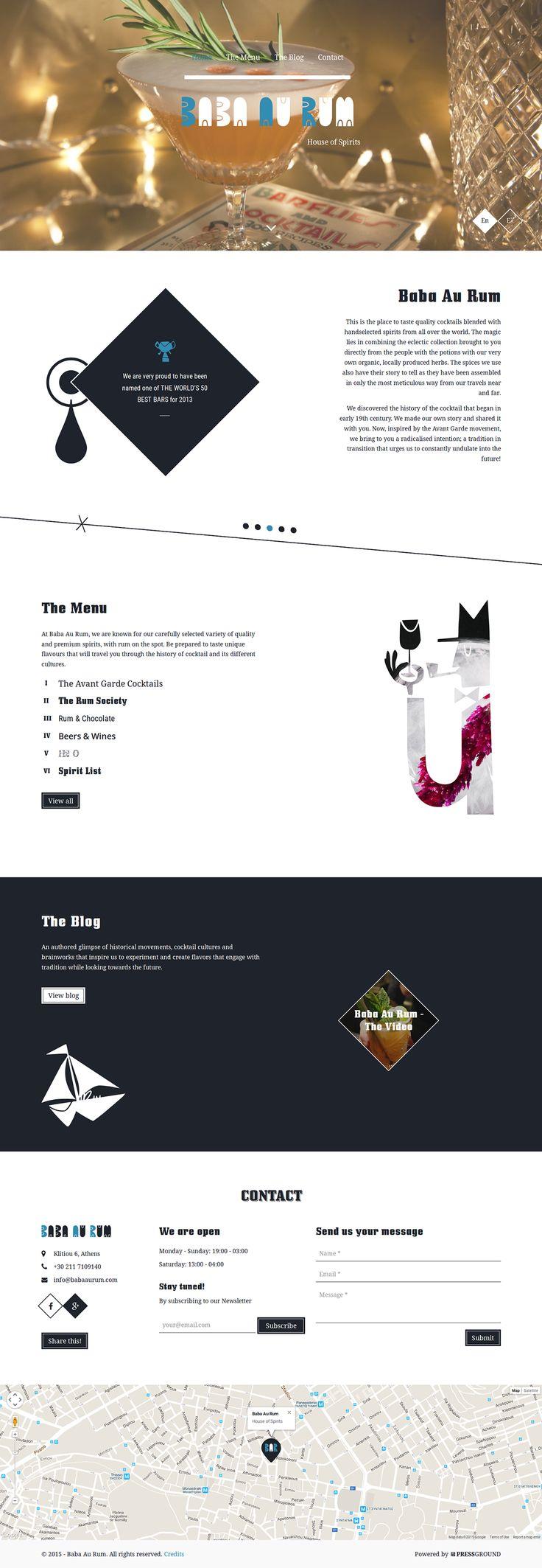 Baba Au Rum Website Design & Development on Behance